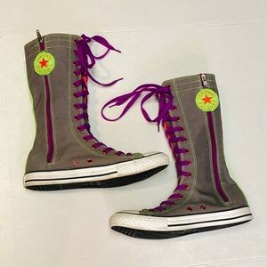 Converse Lace Up Multi Color Boot 6 fits like 7.5